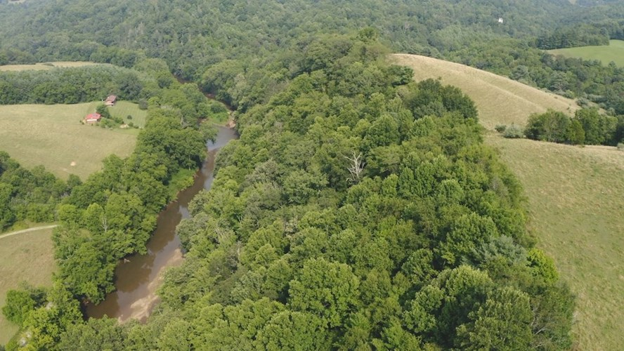 Large Land Tract for Sale with River Frontage in Riner VA!