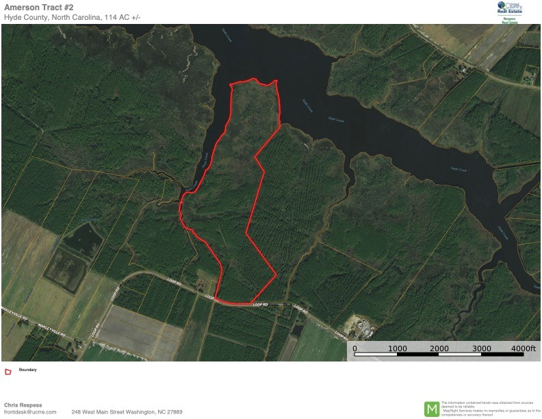 Recreational Waterfront Land for Sale in Hyde County