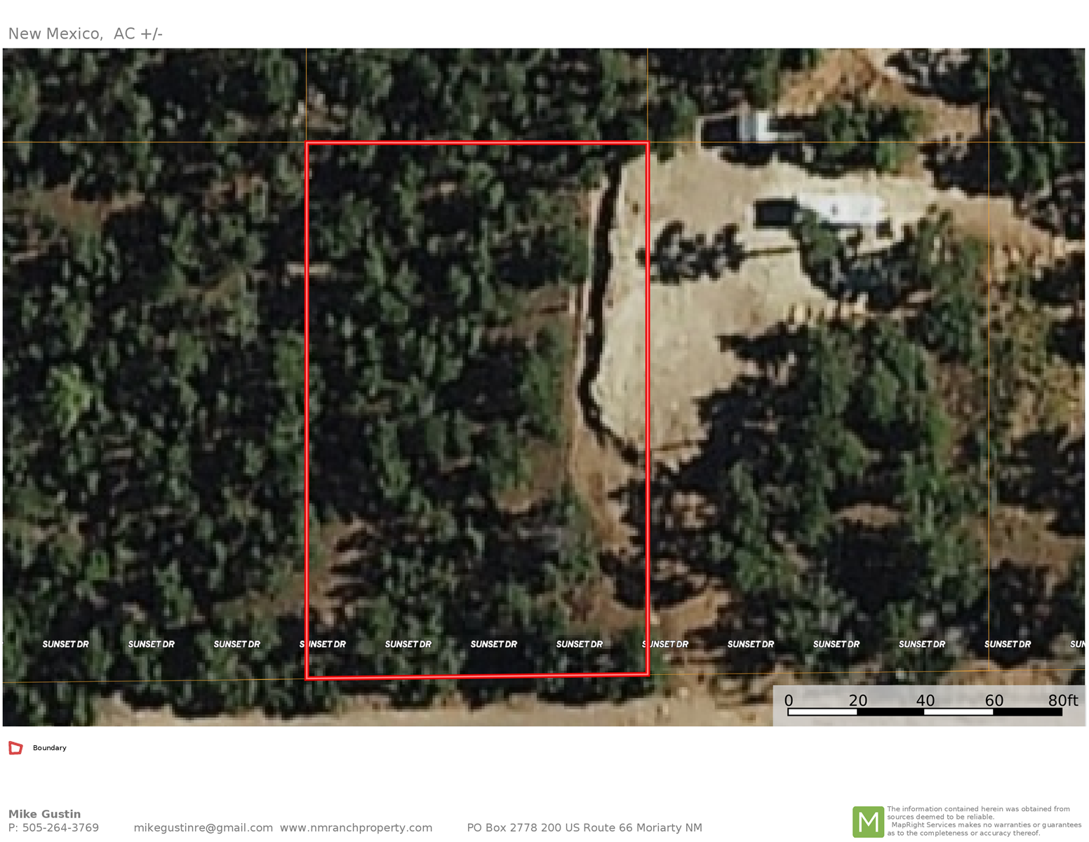 For Comp only. Wooded lot located in Manzano