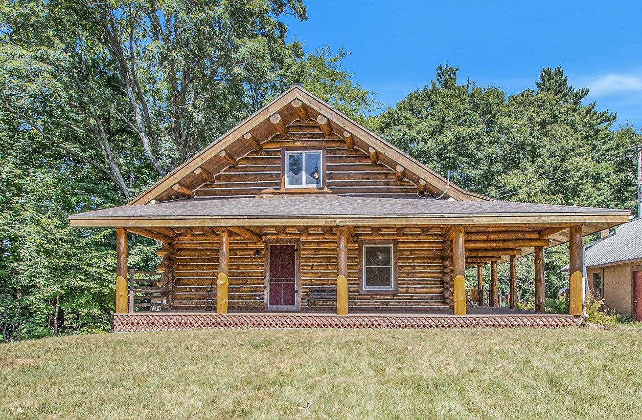 Custom Log Home For Sale Minutes From Grant, MI!