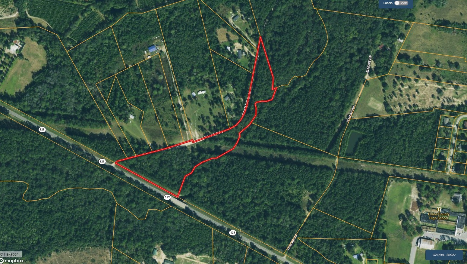 8.5 ACRES OF LAND HWY 129 CLAXTON