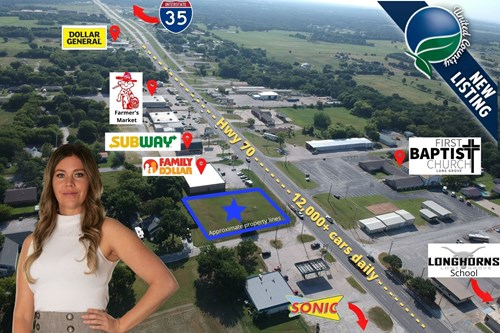 COMMERCIAL LOT FOR SALE MID TOWN LONE GROVE OKLAHOMA