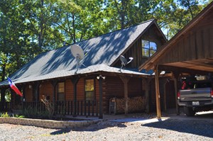 LOG HOME/CABIN FOR SALE, HUNTING LAND W/ DUCK POND FOR SALE