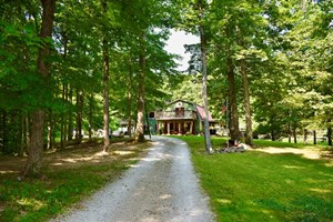 LAKEFRONT COUNTRY HOME WITH HUNTING LAND FOR SALE CENTRAL IN