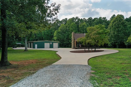Log Home For Sale With Shop and Acreage in Salisbury NC