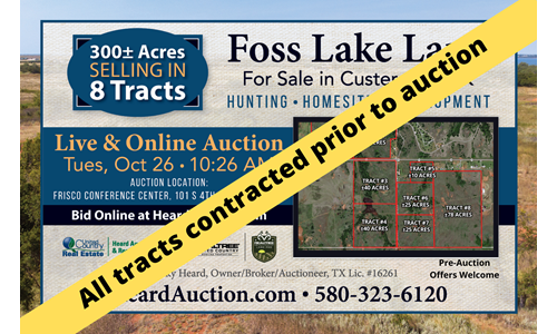 Foss Lake Land for Sale Custer County, OK - Tract #4