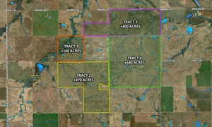 ±400 ACRES, NOBLE COUNTY HUNTING & RANCH LAND FOR SALE