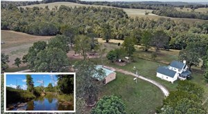 LARGE RANCH & FARM WITH LIVE WATER &  HOME FOR SALE IN S MO.