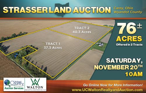 STRASSER LAND AUCTION- NOV 20TH @ 10A.M.