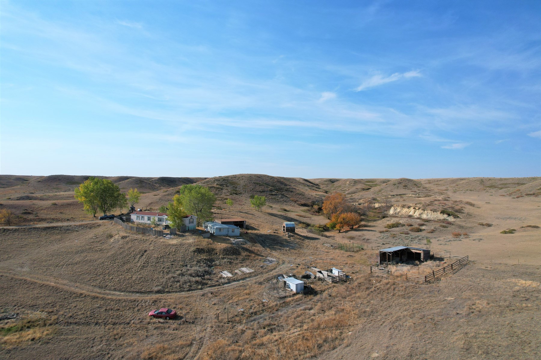 20 acres fenced land with single wide trailer