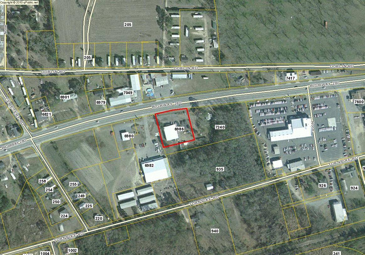 Metal Commercial Building on 2.5+/- Acres in Evans County