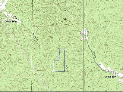 60 Mostly Wooded Acres Near Lesterville