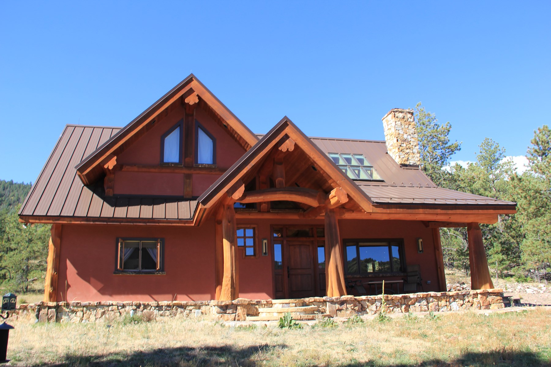 Luxury Colorado Mountain Log Home For Sale