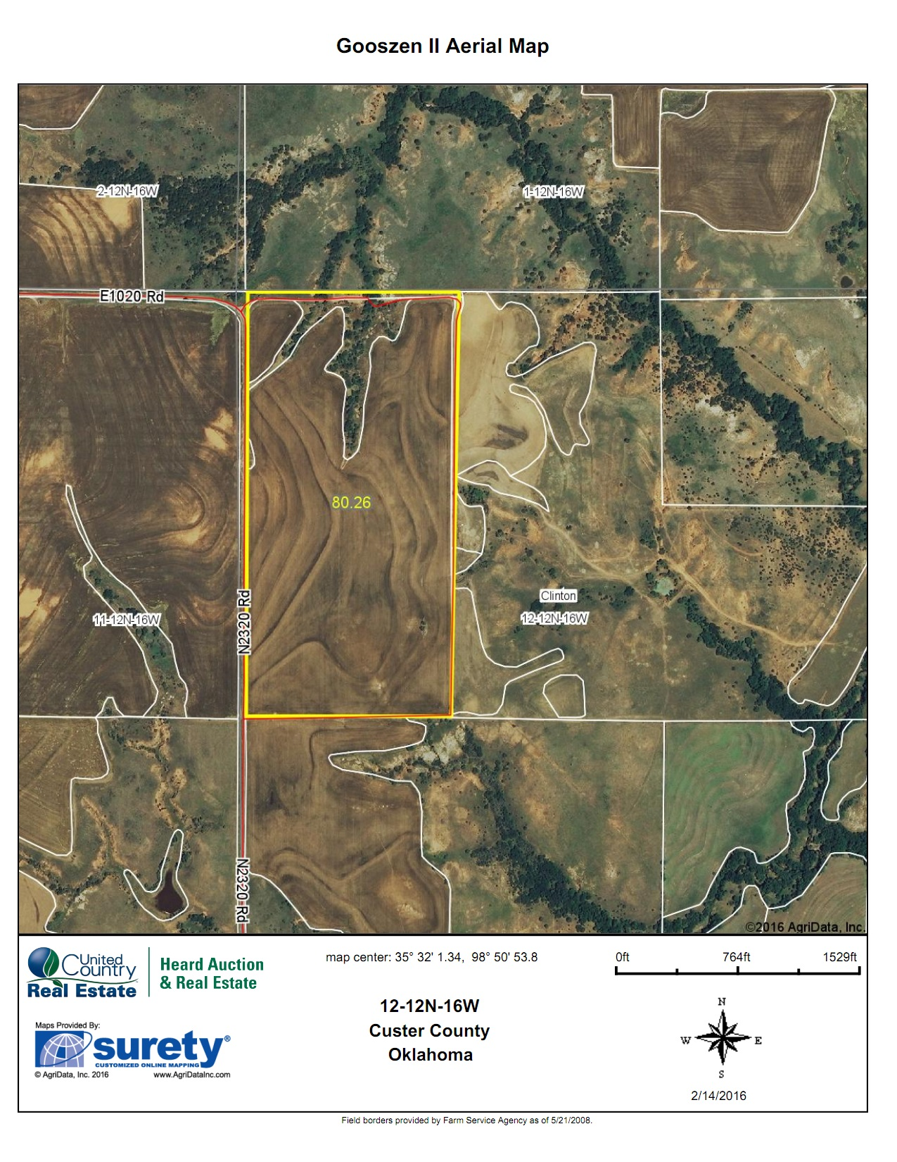 Oklahoma Farm for Sale, Custer County, Tract 1