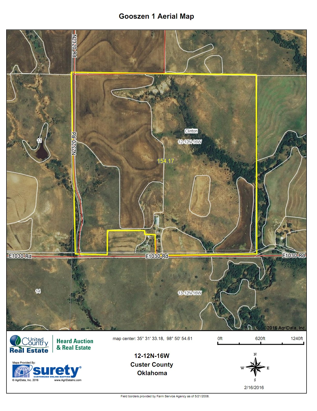 Oklahoma Farm for Sale, Custer County, Tract 2