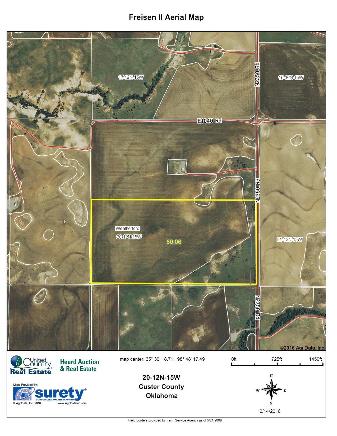 Oklahoma Farm for Sale, Custer County, Tract 4