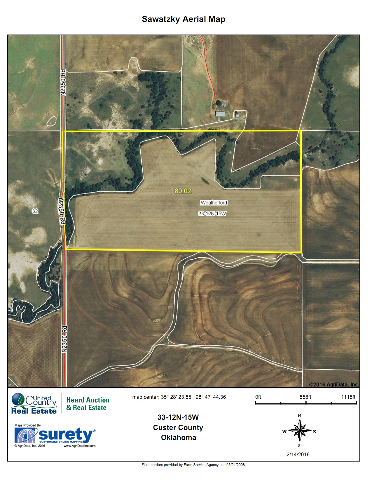 Oklahoma Farm for Sale, Custer County, Tract 5