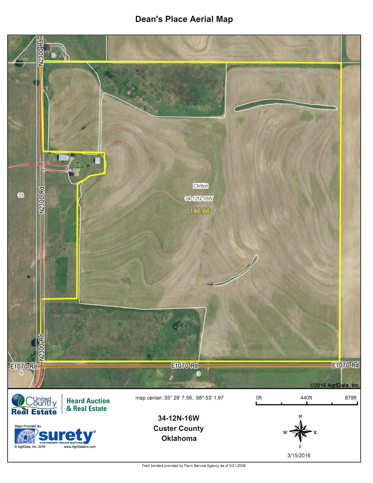 Oklahoma Farm for Sale, Custer County, Tract 6