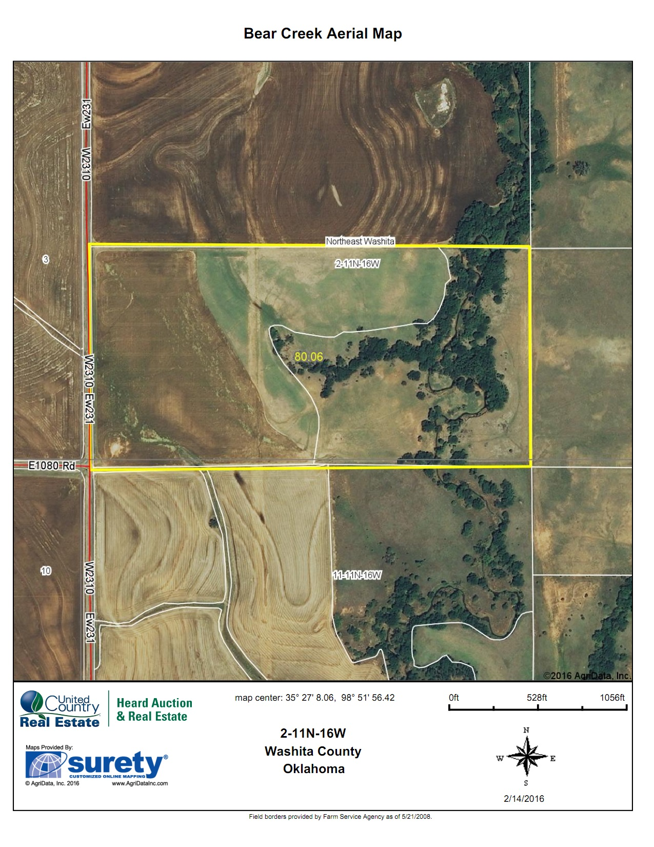 Oklahoma Farm for Sale, Washita County, Tract 7