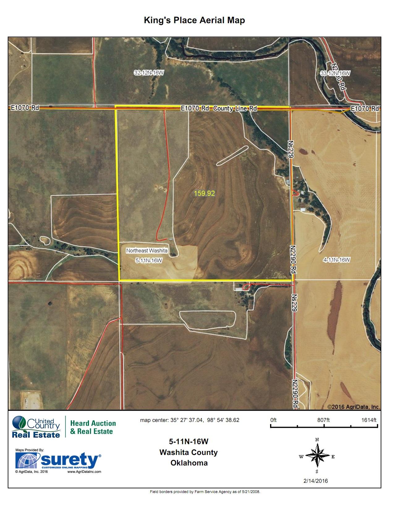 Oklahoma Farm for Sale, Washita County, Tract 8