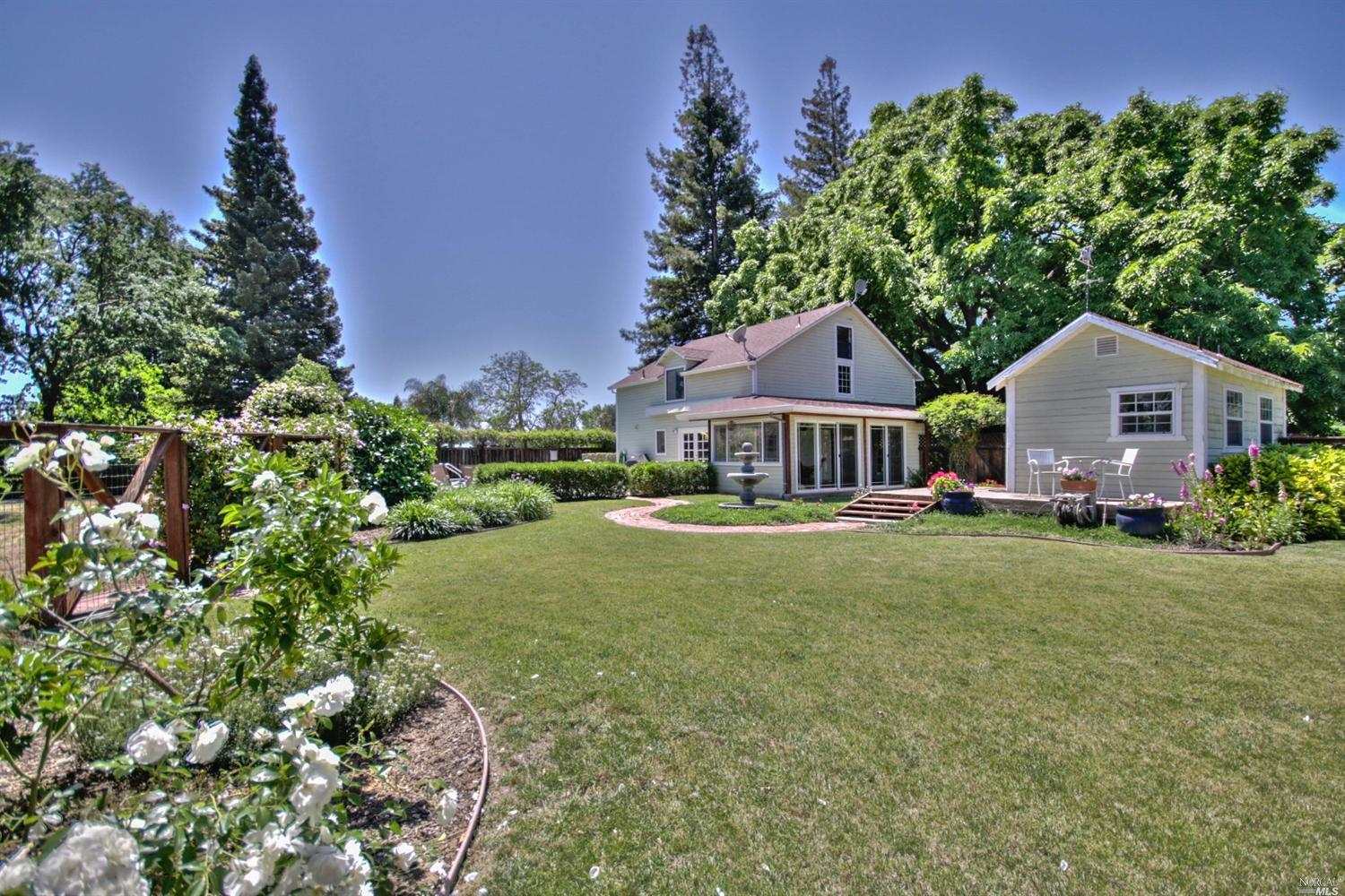 Solano County, Ca Country Home For Sale With Prime Farmland