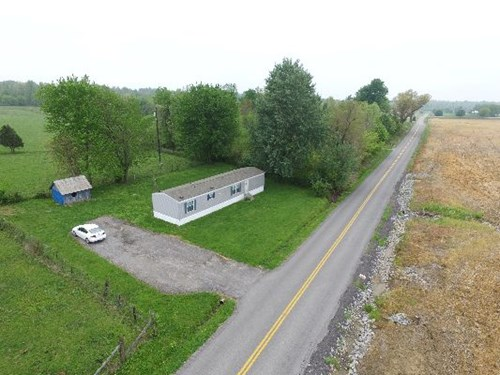 Country Lot with single wide manufactured home