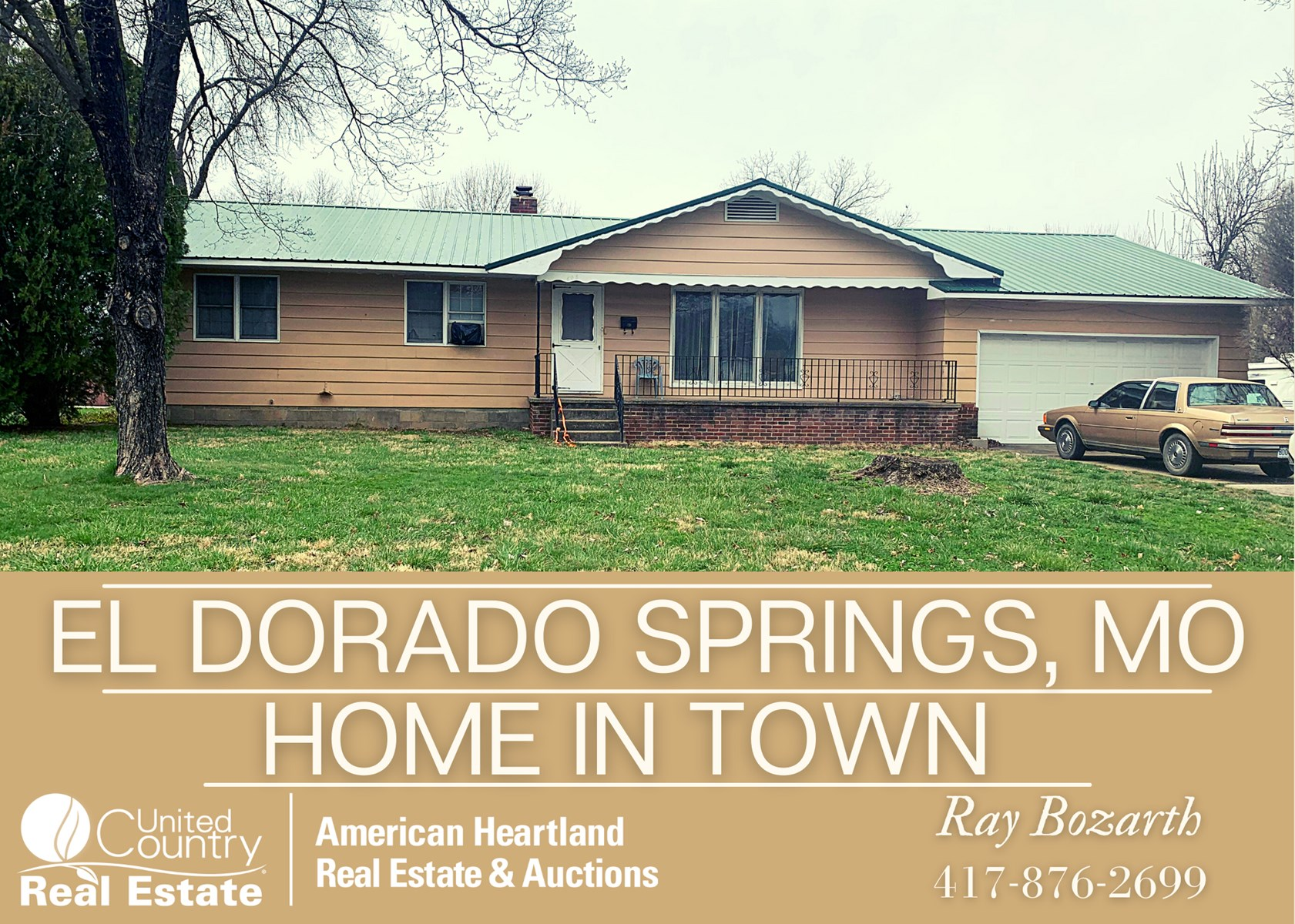 3 Bedroom Home on 3 City Lots in SW Mo.