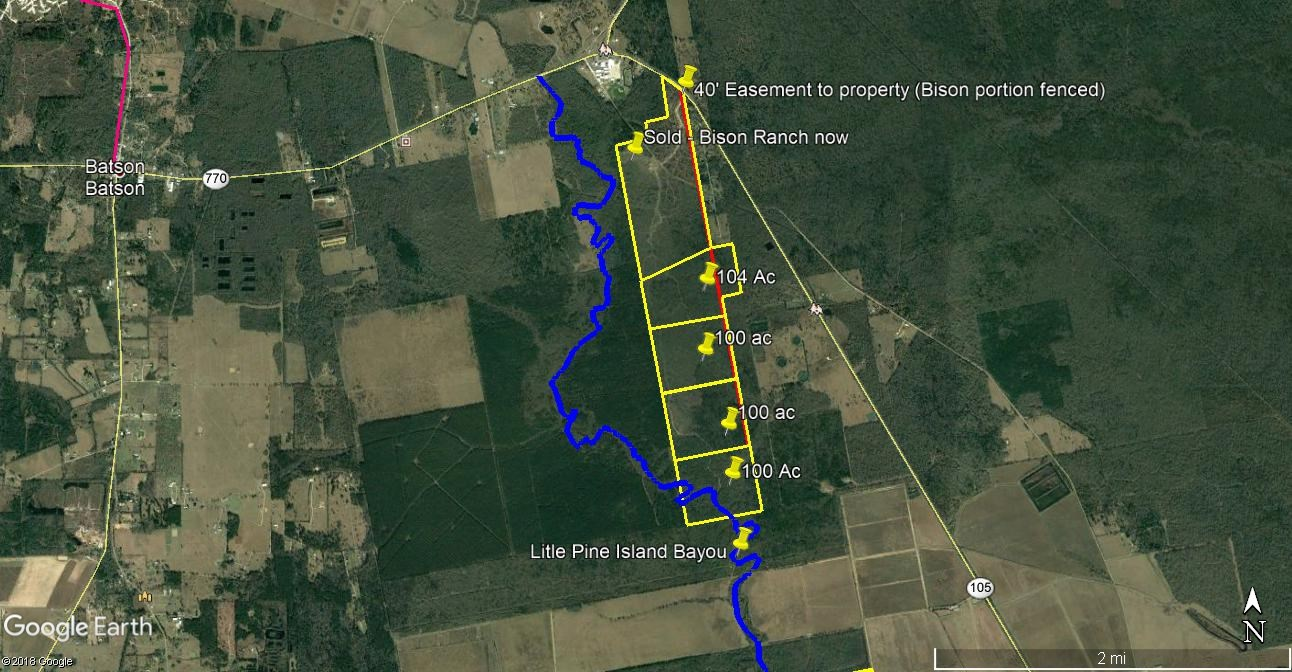 100 TO 404 ACRES HUNTING RECREATION LAND  NORTH OF HOUSTON