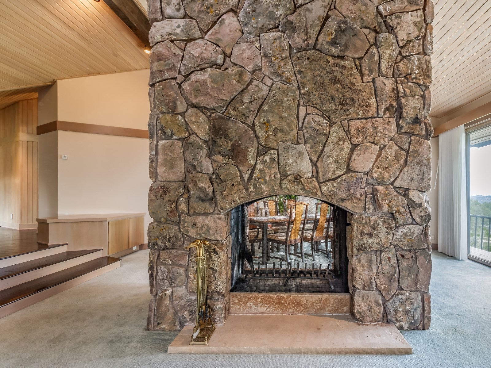 Moss Rock Fireplace