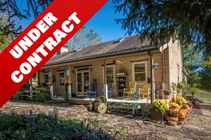 HISTORIC LOG & STONE HOME & ACREAGE FOR SALE IN HERMANN, MO