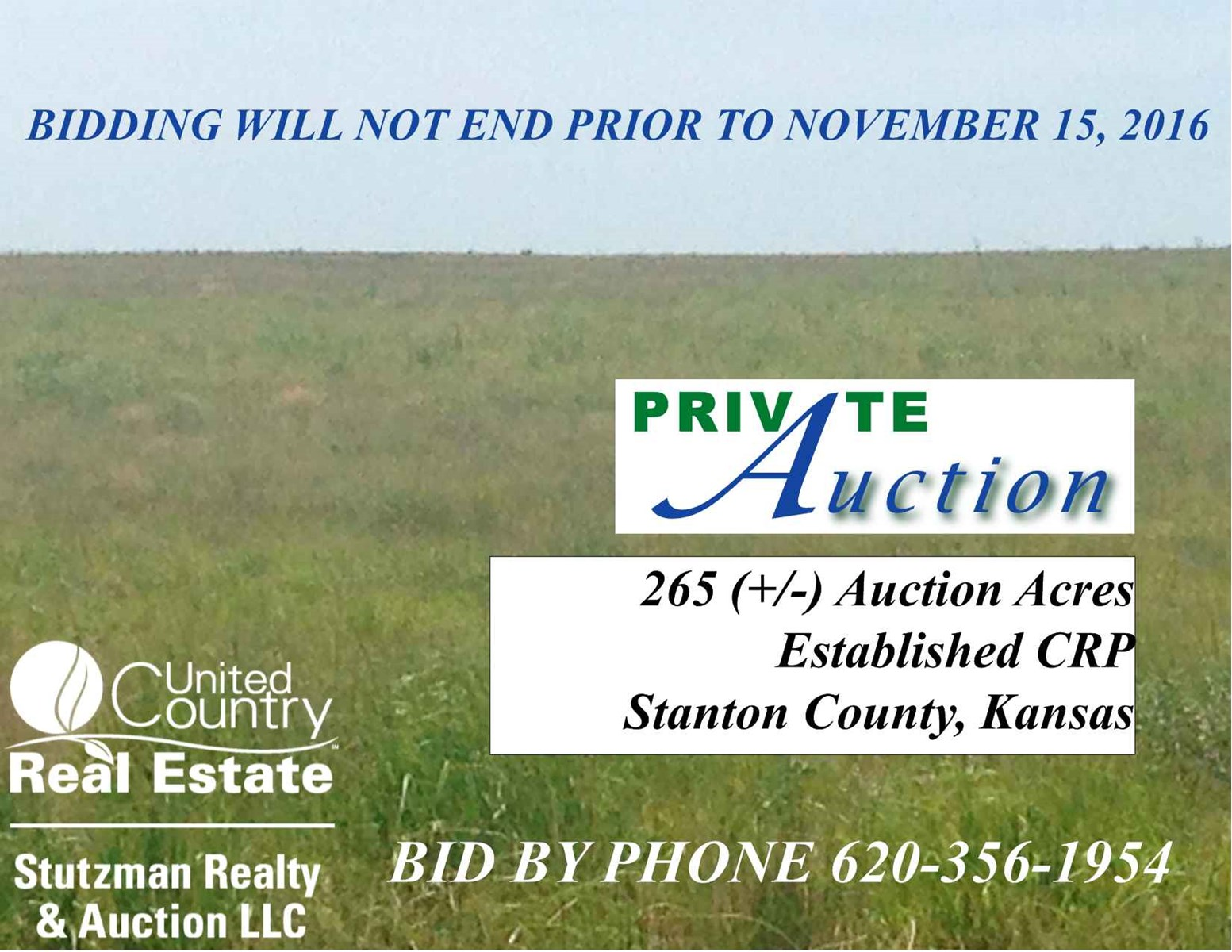 265 +/- Acres of Established CRP in Stanton County, Kansas