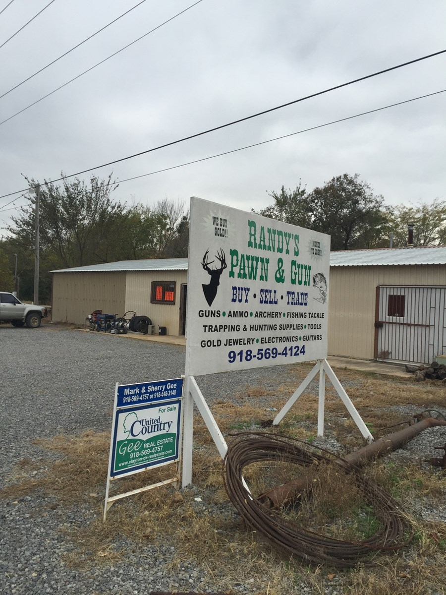 Investment Income Property For Sale Clayton,OK/Metal Shop