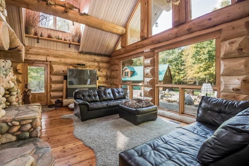 Custom Riverfront Log Home - Southwest Michigan