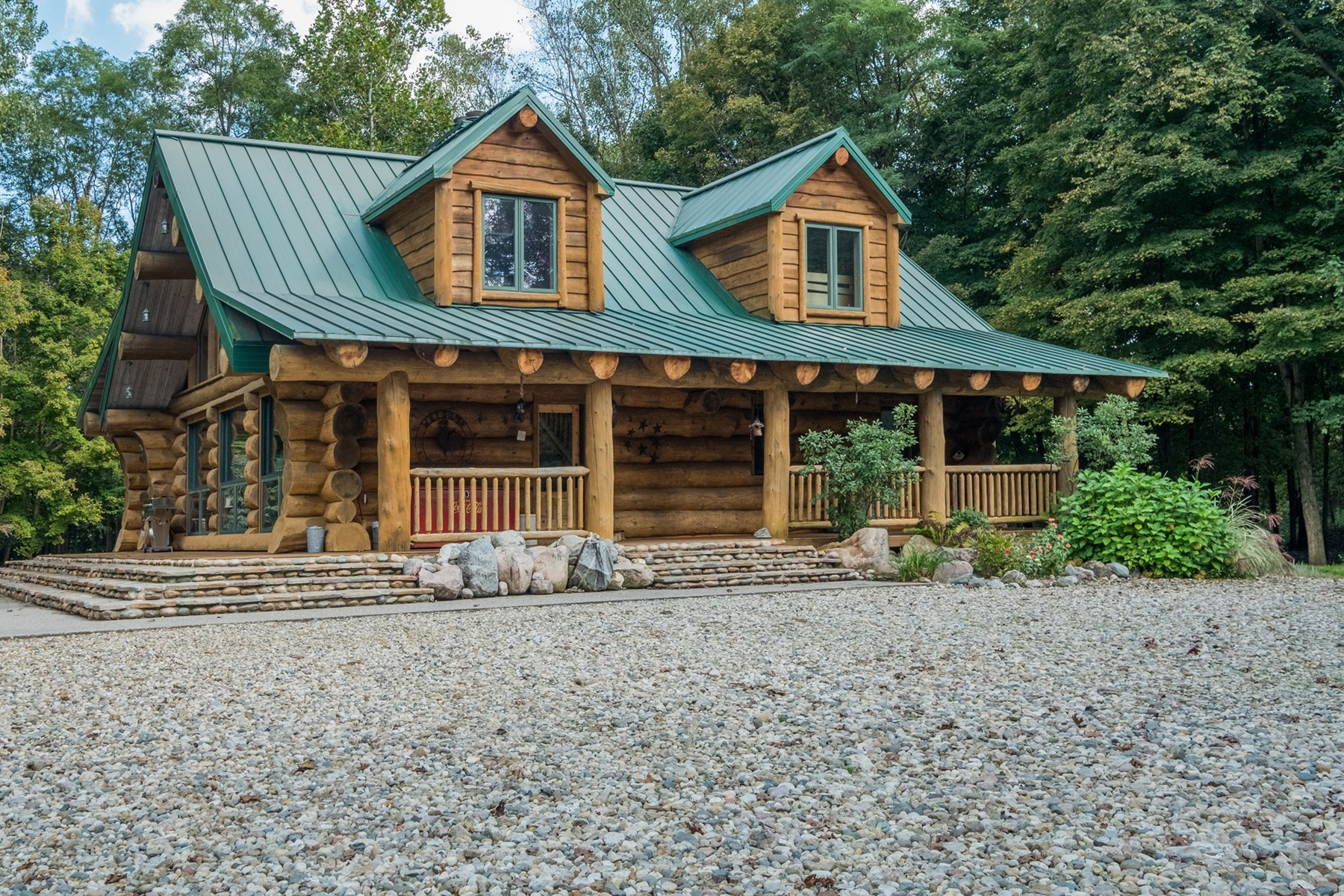 Custom Riverfront Log Home - Southwest Michigan