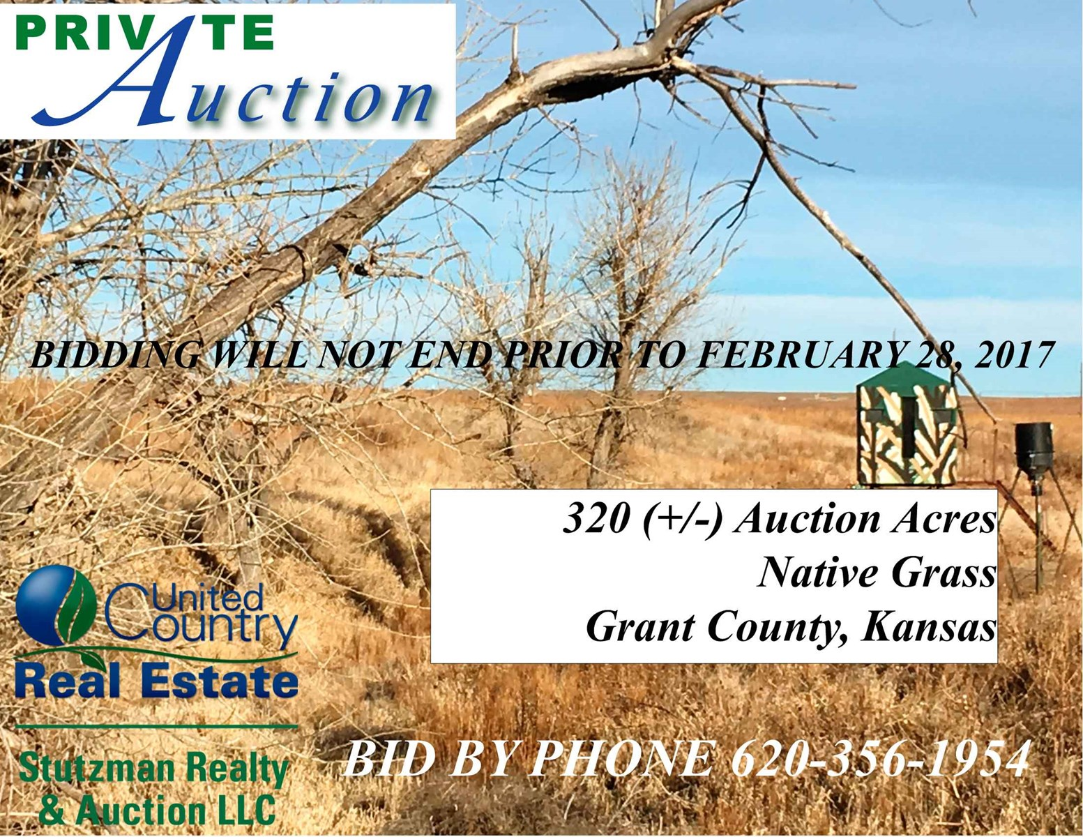 PRIVATE AUCTION 320 ACRES RANCHLAND in SOUTHWEST KANSAS