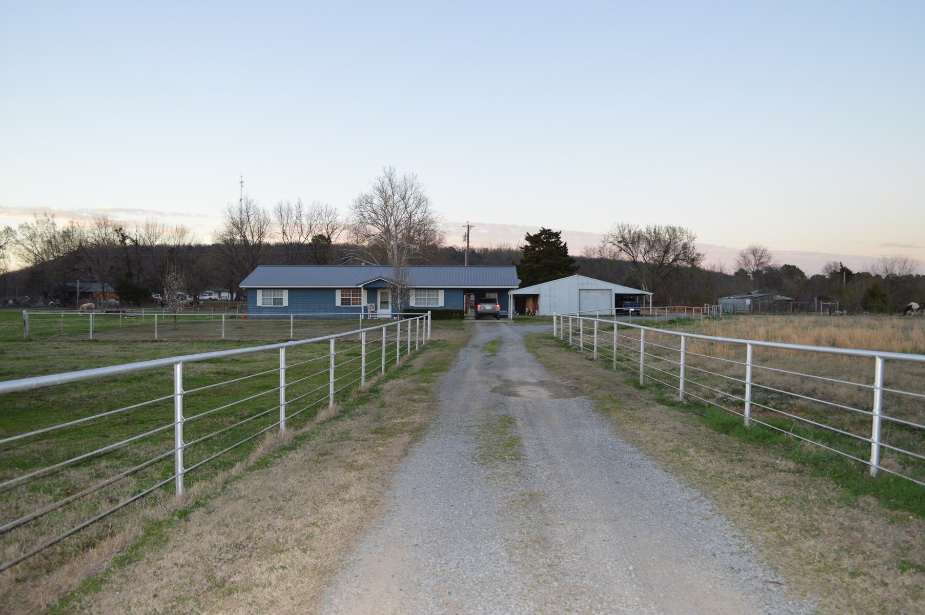 Home for sale-Hartshorne,OK- Home with land for sale