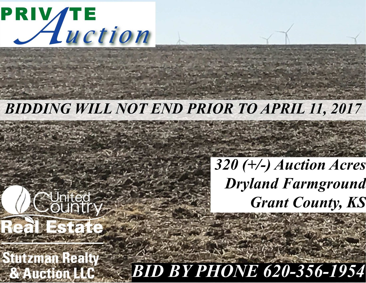 320+/- Acres of Dryland Farmground in Grant County, Kansas