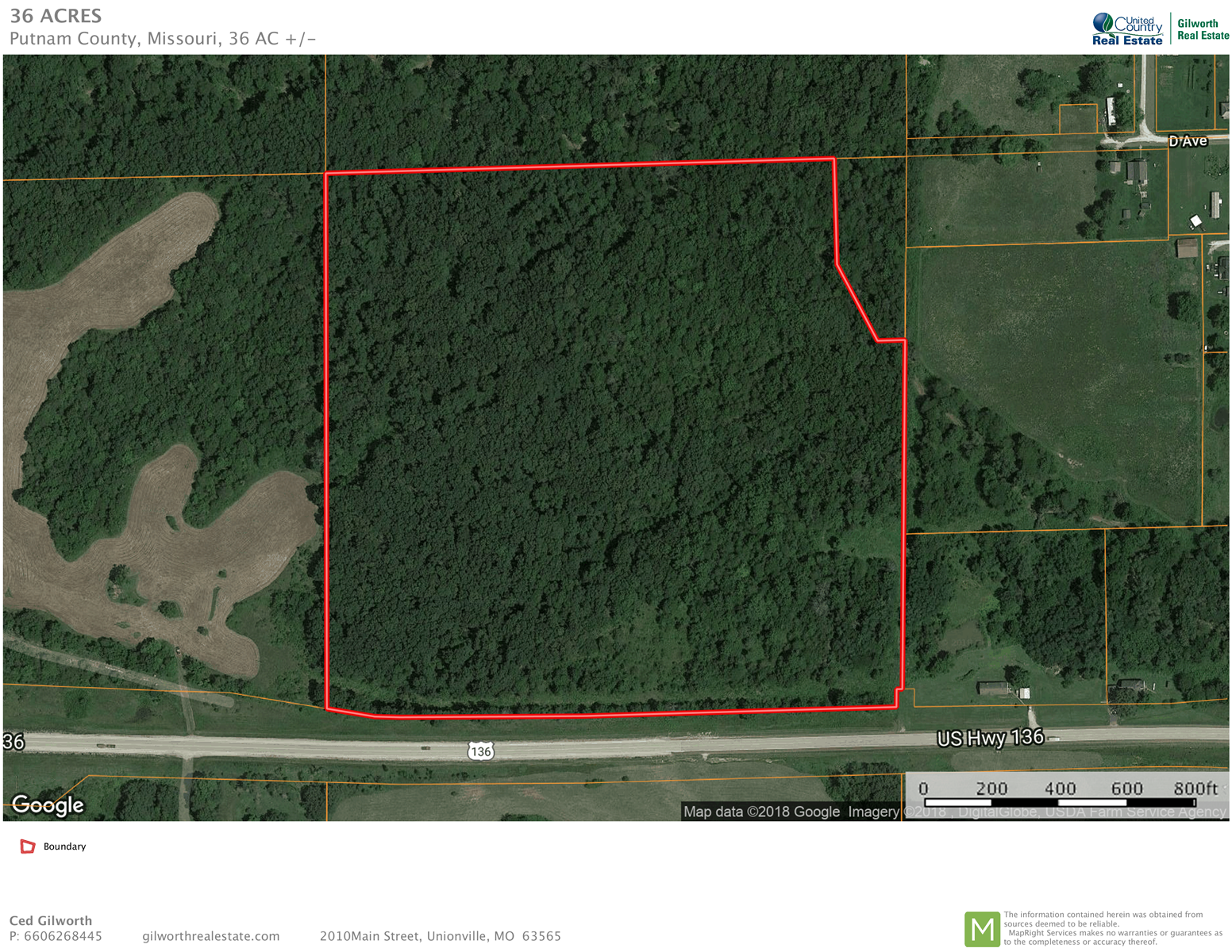 Hunting or building acreage on US Highway 136 in Livonia, MO