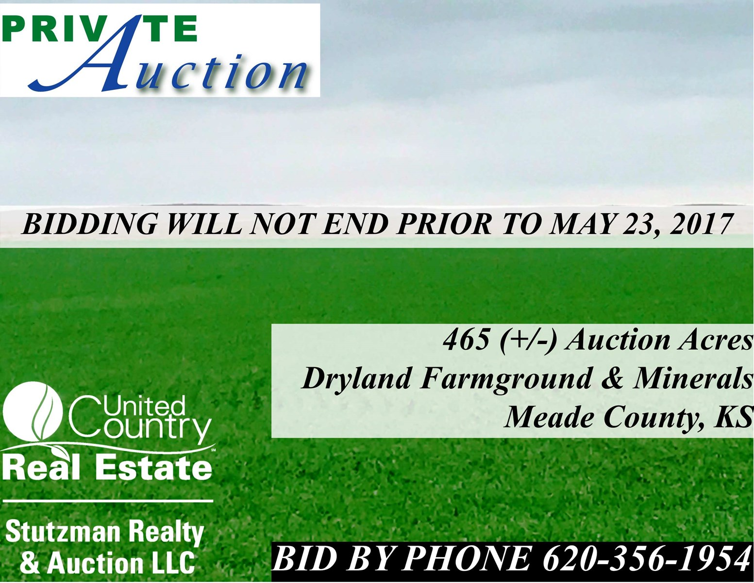 465+/- ACRES OF FARMLAND & MINERALS, MEADE CO., KS