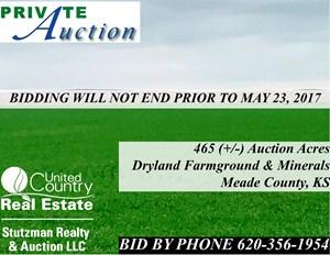 465+/- ACRES OF FARMLAND & MINERALS, MEADE CO., KS