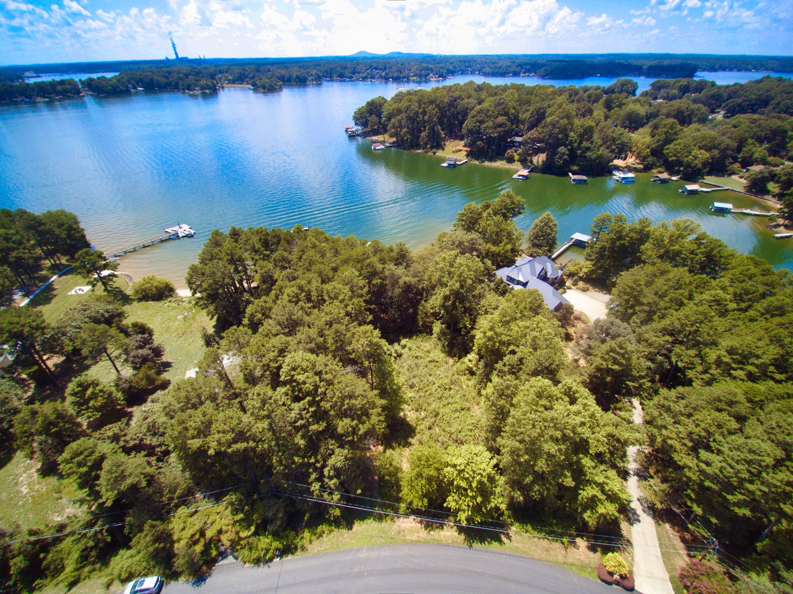 Lake Norman NC Waterfront Lot For Sale With Long-Range View