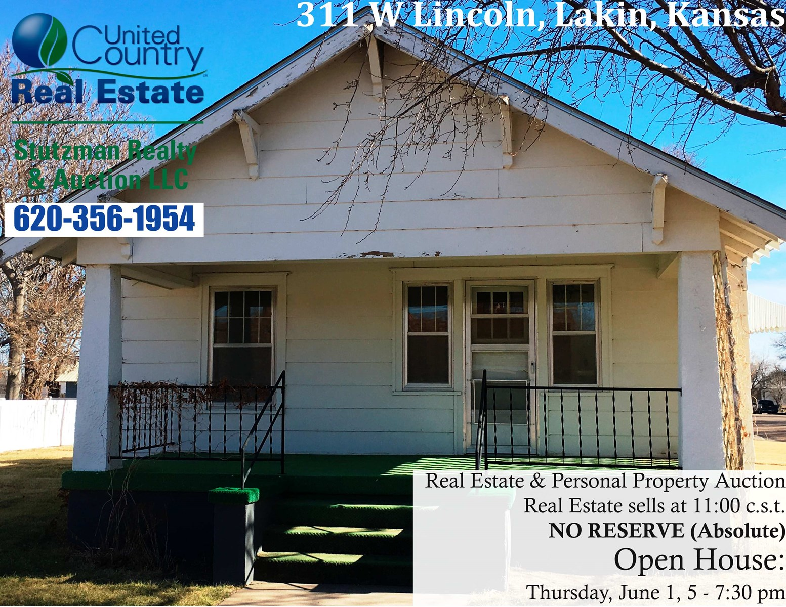 ABSOLUTE  AUCTION - RESIDENCE and ESTATE, LAKIN, KANSAS