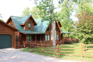 STUNNING LOG HOME IN CENTRAL KY ON 50 ACRES
