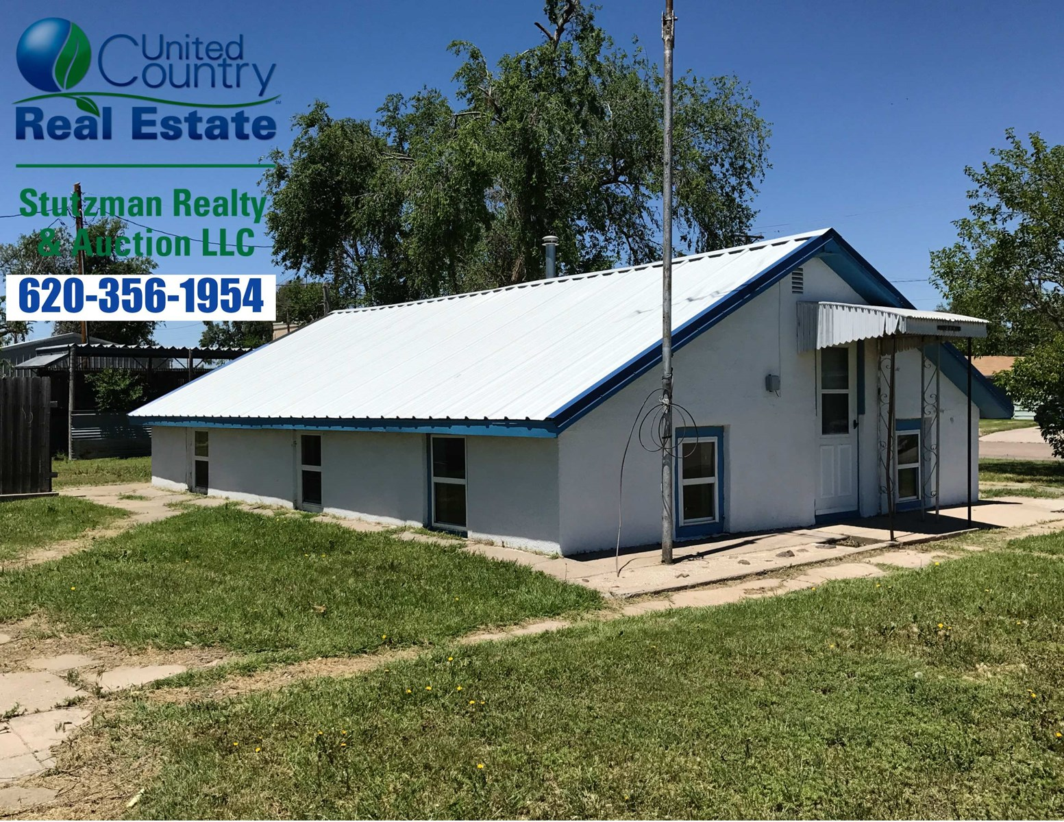 HOME WITH OVERSIZED SHOP FOR SALE IN GRANT COUNTY KANSAS
