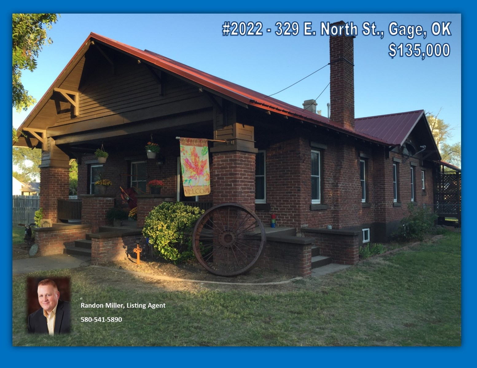Home for Sale Gage, OK  (Ellis County)