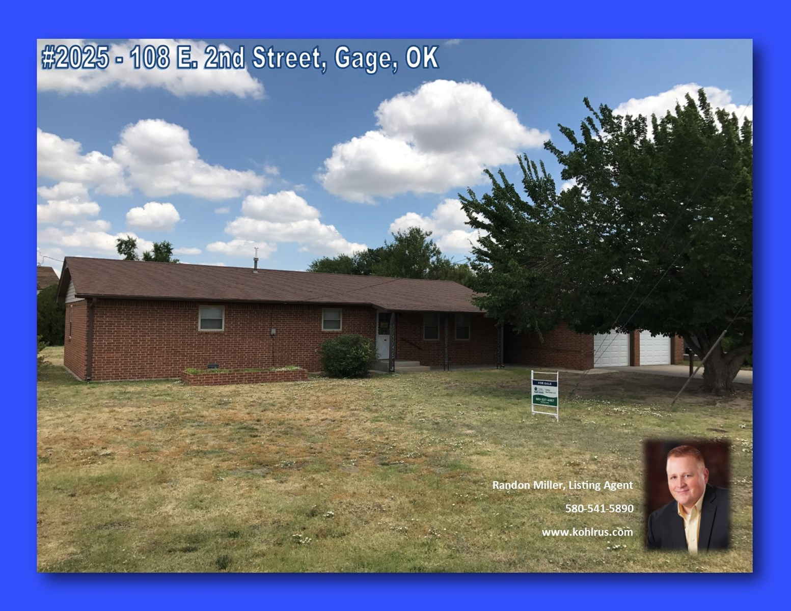 Home For Sale Gage, OK  Ellis County