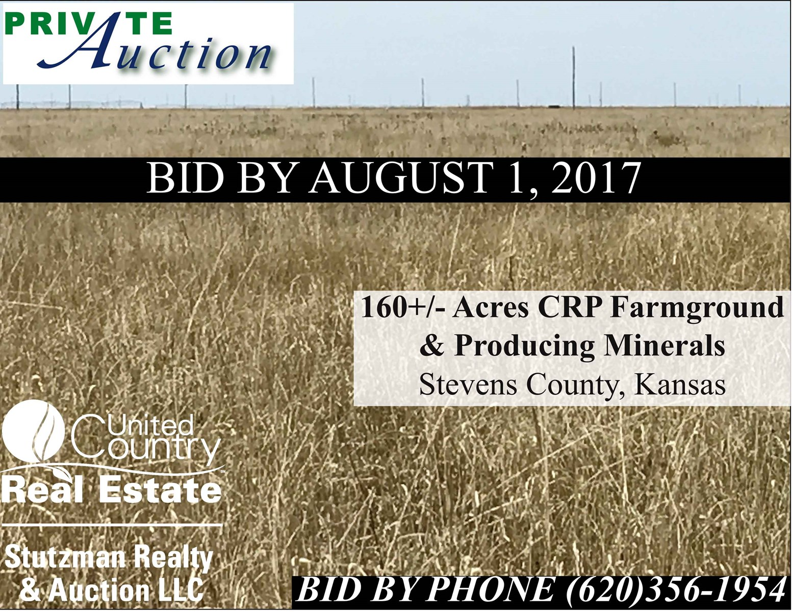 160+/- Acres CRP Farmground & Producing Minerals, Stevens Co