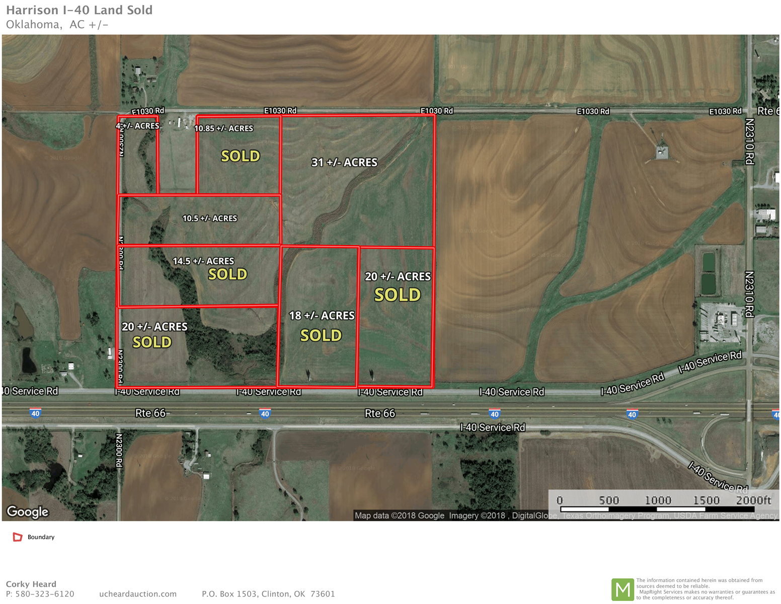 I-40 Frontage Land for Sale Custer County, Oklahoma