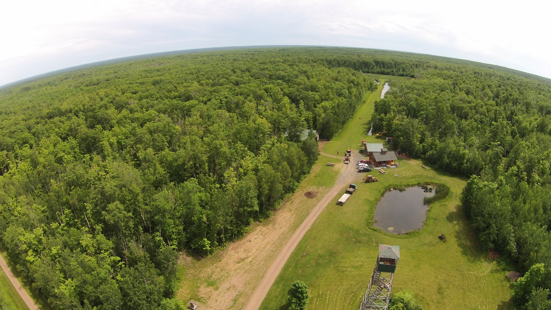 Hunting Acreage For Sale, Log Cabin, Pine County Minnesota