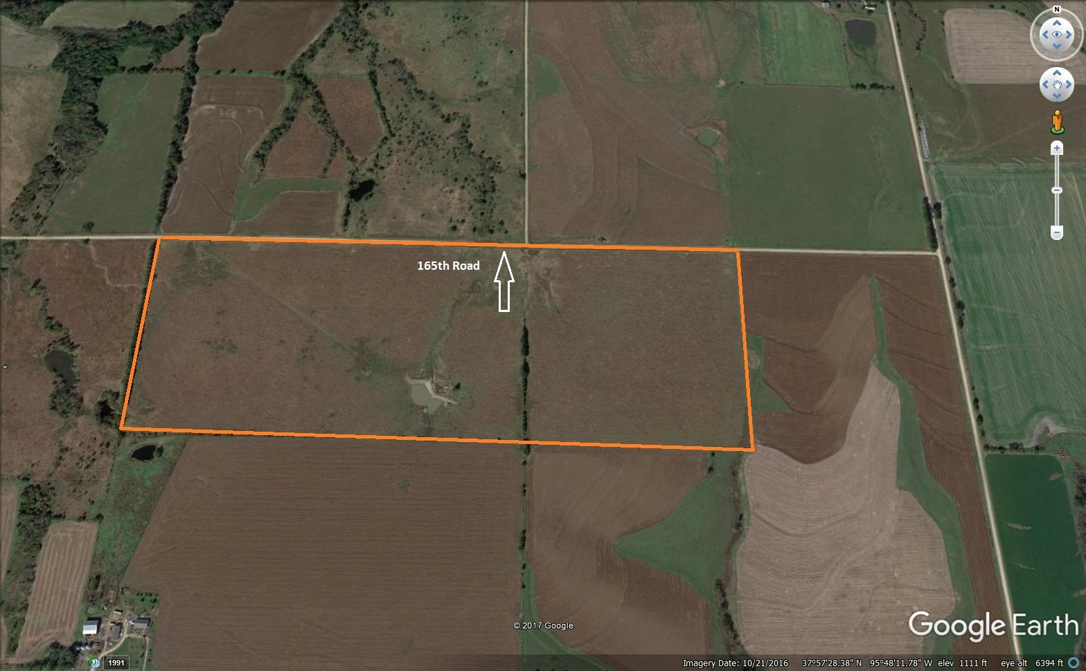 Yates Center, Kansas 110 Acres For Sale.